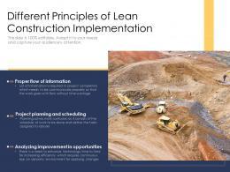 Different Principles Of Lean Construction Implementation