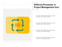 Different Processes In Project Management Icon