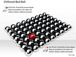 Different Red Ball In Silver Balls For Leadership