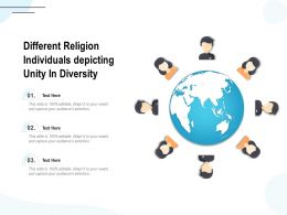 Different Religion Individuals Depicting Unity In Diversity