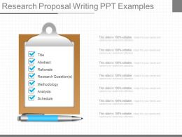 Different Research Proposal Writing Ppt Examples
