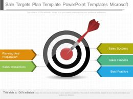 Different Sale Targets Plan Template Powerpoint Templates Microsoft