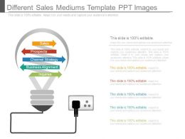 Different Sales Mediums Template Ppt Images