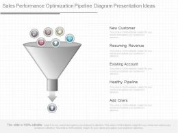 Different Sales Performance Optimization Pipeline Diagram Presentation Ideas