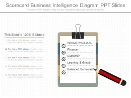 Different Scorecard Business Intelligence Diagram Ppt Slides