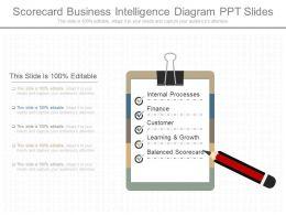Different Scorecard Business Intelligence Diagram Ppt Slides