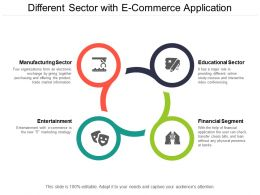 Different Sector With E Commerce Application