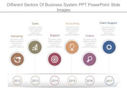 Different Sectors Of Business System Ppt Powerpoint Slide Images