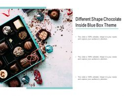 Different Shape Chocolate Inside Blue Box Theme