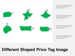 Different Shaped Price Tag Image