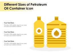 Different Sizes Of Petroleum Oil Container Icon