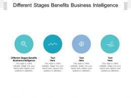 Different Stages Benefits Business Intelligence Ppt Powerpoint Presentation Ideas Display Cpb