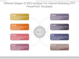 Different Stages Of Seo Analysis For Internet Marketing Ppt Powerpoint Templates