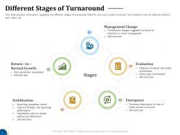 Different Stages Of Turnaround Business Turnaround Plan Ppt Structure
