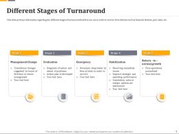 Different Stages Of Turnaround Ppt Powerpoint Gallery Portfolio
