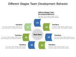 Different Stages Team Development Behavior Ppt Powerpoint Presentation Inspiration Cpb