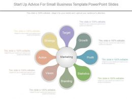 Different Start Up Advice For Small Business Template Powerpoint Slides
