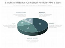 Different Stocks And Bonds Combined Portfolio Ppt Slides