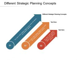 Different Strategic Planning Concepts Ppt Powerpoint Presentation Slides Background Cpb