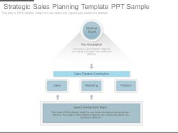 Different Strategic Sales Planning Template Ppt Sample