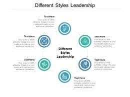 Different Styles Leadership Ppt Powerpoint Presentation Outline Slides Cpb