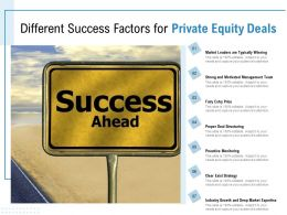Different Success Factors For Private Equity Deals