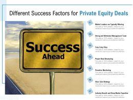 Different Success Factors For Private Equity Deals