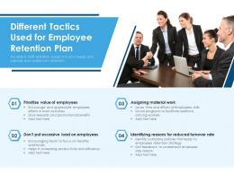 Different Tactics Used For Employee Retention Plan
