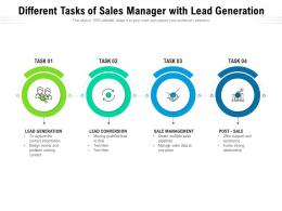 Different Tasks Of Sales Manager With Lead Generation