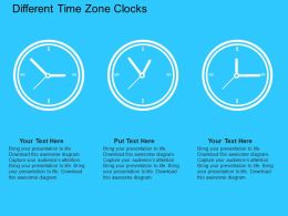 Different Time Zone Clocks Flat Powerpoint Design