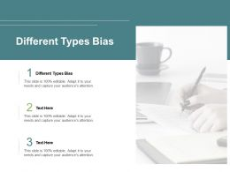 Different Types Bias Ppt Powerpoint Presentation Gallery Slides Cpb