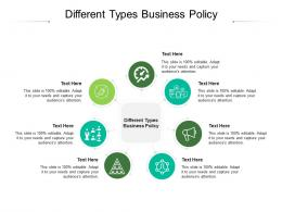 Different Types Business Policy Ppt Powerpoint Presentation Inspiration Smartart Cpb