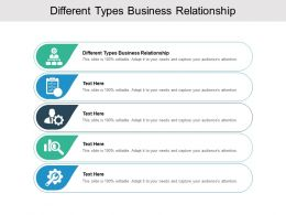 Different Types Business Relationship Ppt Powerpoint Presentation Inspiration Cpb