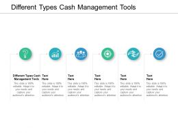 Different Types Cash Management Tools Ppt Powerpoint Presentation Model Visual Aids Cpb