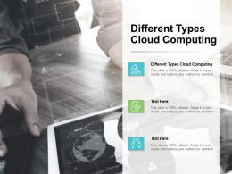 Different Types Cloud Computing Ppt Powerpoint Presentation Slides Pictures Cpb