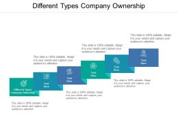 Different Types Company Ownership Ppt Powerpoint Presentation File Inspiration Cpb