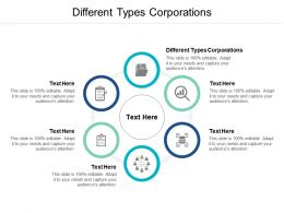 Different Types Corporations Ppt Powerpoint Presentation Styles Deck Cpb