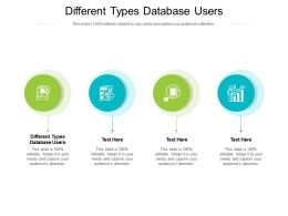 Different Types Database Users Ppt Powerpoint Presentation File Maker Cpb