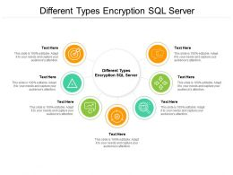 Different Types Encryption SQL Server Ppt Powerpoint Presentation Ideas Samples Cpb