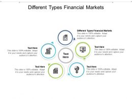 Different Types Financial Markets Ppt Powerpoint Presentation Layouts Information Cpb