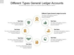 Different Types General Ledger Accounts Ppt Powerpoint Presentation Styles Designs Cpb