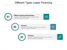 Different Types Lease Financing Ppt Powerpoint Presentation Slides Download Cpb