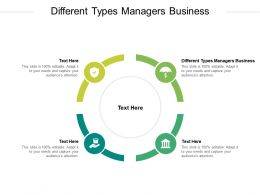 Different Types Managers Business Ppt Powerpoint Presentation Diagram Templates Cpb