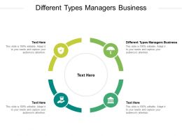 Different Types Managers Business Ppt Powerpoint Presentation Icon Themes Cpb