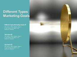 Different Types Marketing Goals Ppt Powerpoint Presentation Ideas Slideshow Cpb