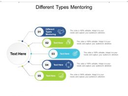Different Types Mentoring Ppt Powerpoint Presentation Show Layout Cpb