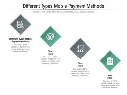 Different Types Mobile Payment Methods Ppt Powerpoint Presentation Show Slides Cpb