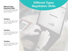 Different Types Negotiation Skills Ppt Powerpoint Presentation Show Pictures Cpb