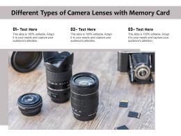 Different Types Of Camera Lenses With Memory Card