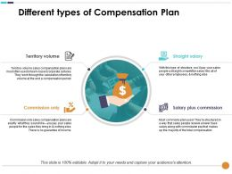 Different Types Of Compensation Plan Territory Volume Commission Only Straight Salary
